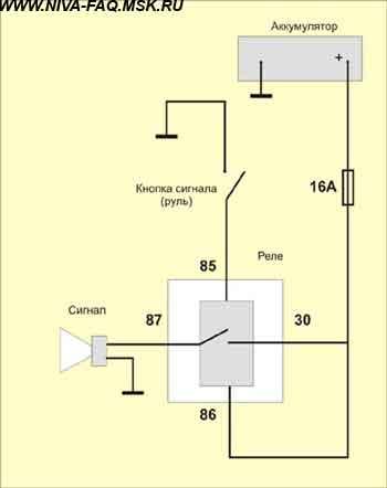 Схема подключения волговских сигналов через реле фото 983