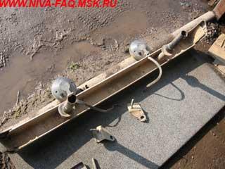 ushb 4 - Усиление бампера нива своими руками