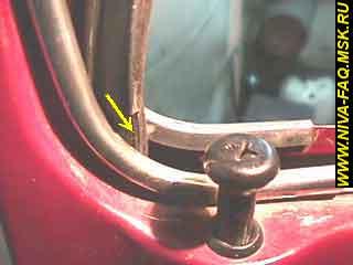 b3 12 - Уплотнитель стекла двери нива