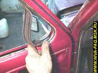b3 19 - Уплотнитель стекла двери нива
