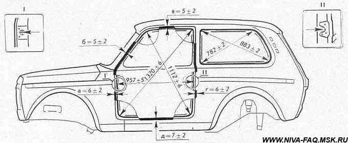 Схема кузова ваз 2121