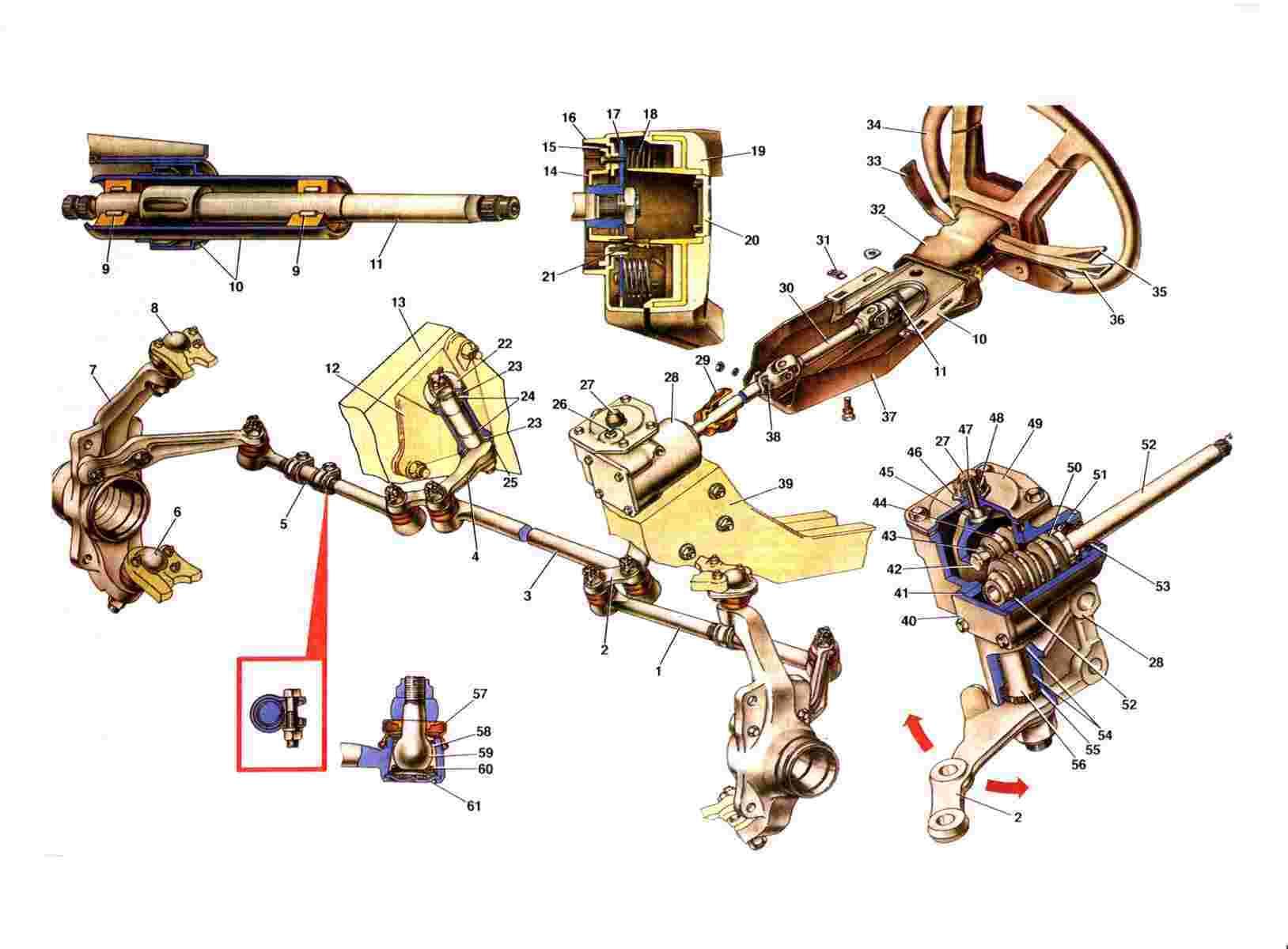 Схемы рулевой нивы 2131