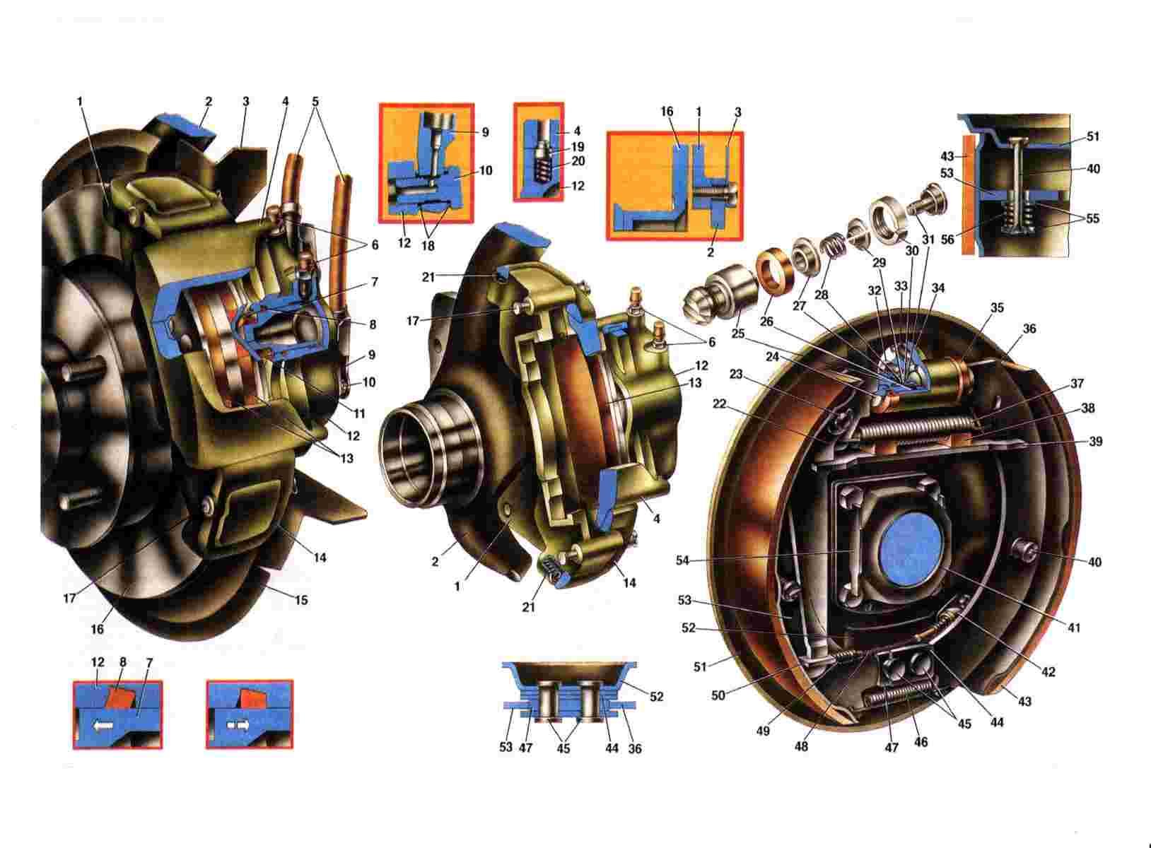 """ВАЗ 2121.   """"Тормозные механизмы колес.  LADA.CarsClub."""